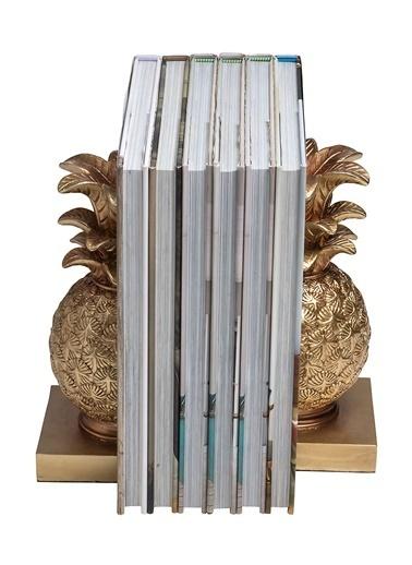 Warm Design Ananas Motifli Kitap Düzenleyicisi Altın